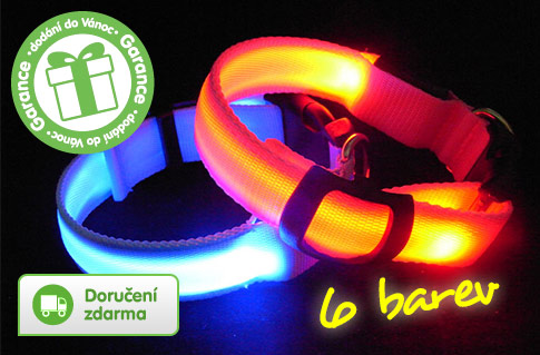 LED svítící obojek pro psa – doručení zdarma