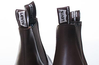 Pánské kožené boty Levi s® hand made hnědé ceb5fa7340