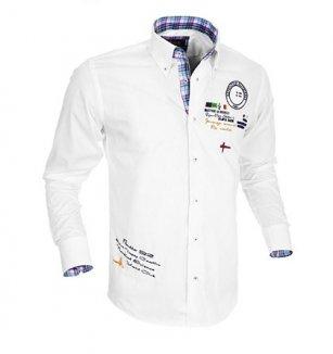 Pánská košile Pontto bílá 42ba858879