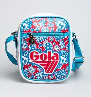 Střední světle modrá taška