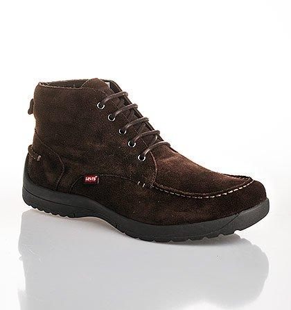 e0e9b3fba6e Kožené semišové boty Levi´s – hnědé