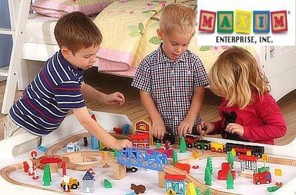 Dřevěné hračky Maxim® pro malé stavitele