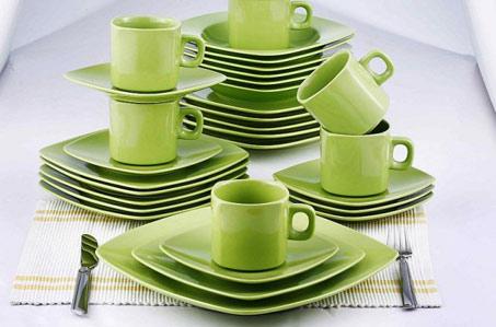 30dílná jídelní souprava z keramiky – 5 barev | Vykupto.cz