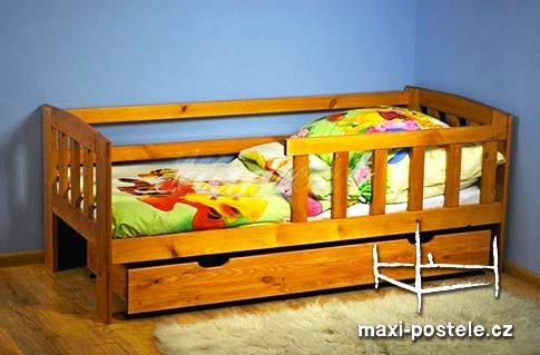 Dětská postel z masivu vč. matrace a roštu