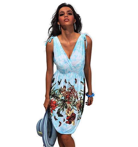 609cfd0d5ff Lehké letní šaty tří délek s výraznými potisky