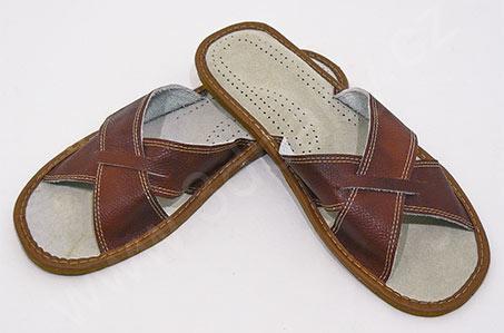 50 % pánské kožené pantofle, komfortní obuv, doručení zdarma ...