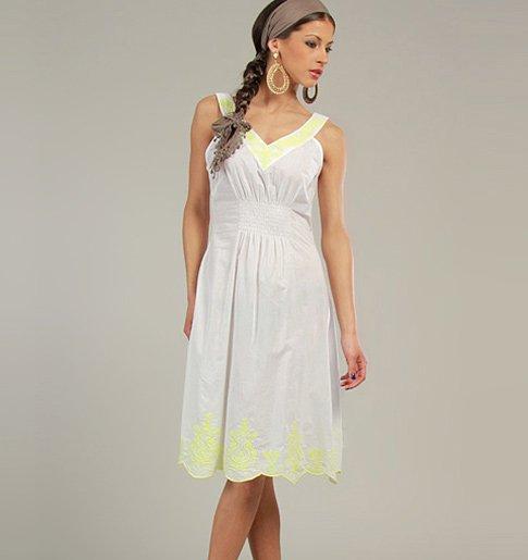 Bílé bavlněné šaty s elastickým pasem eb92665f09