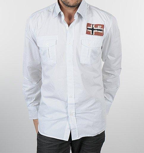 Bílá pánská košile s náprsními kapsami e9f83c3c98
