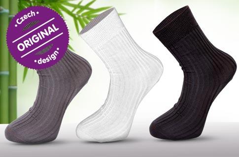 cb658d02f24 Ponožky z bambusového vlákna – 6 párů
