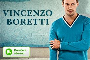 Luxusní jednobarevné pánské svetry Vincenzo Boretti | Vykupto.cz