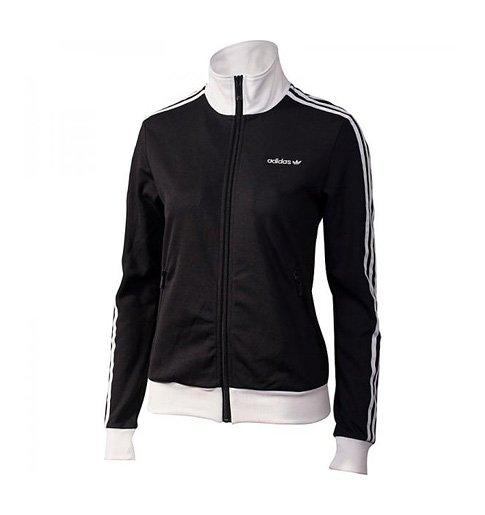 Černo-bílá mikina adidas Beckenbauer TT Black 681364d325
