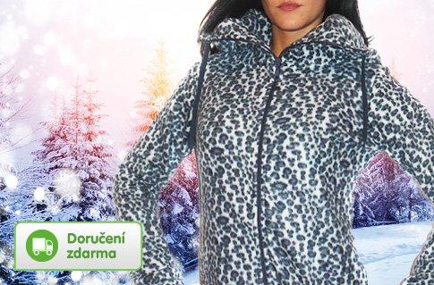 9a0c6f97603 Dámské fleecové mikiny s gepardím potiskem