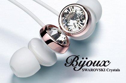 Stereofonní sluchátka s krystaly Swarovski