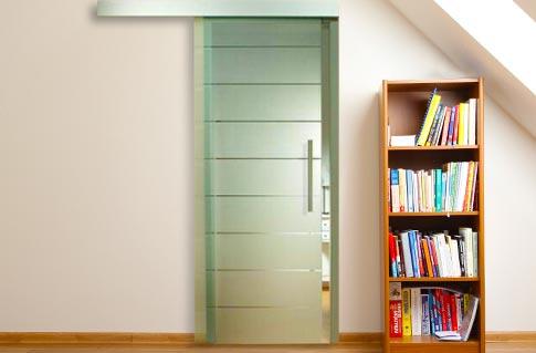 Skleněné posuvné dveře na stěnu