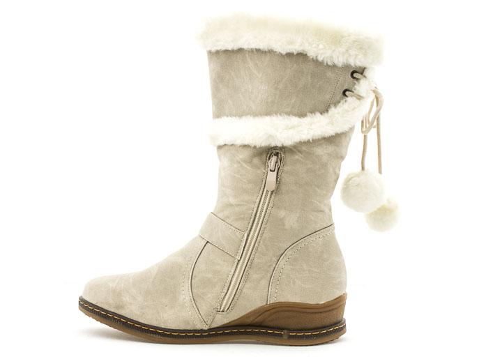 f6f04f7cdaf Něžné kozačky do sněhu a mrazu. dámská zimní obuv