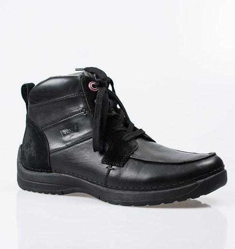 Pánské šněrovací boty – černé db53de5630