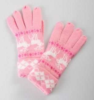 Dámské pletené rukavice s oblíbeným zimním vzorem  2198bc31da