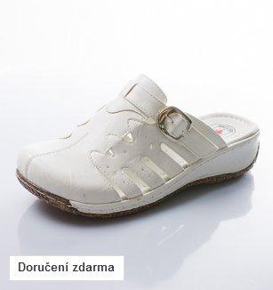 Bílé pantofle