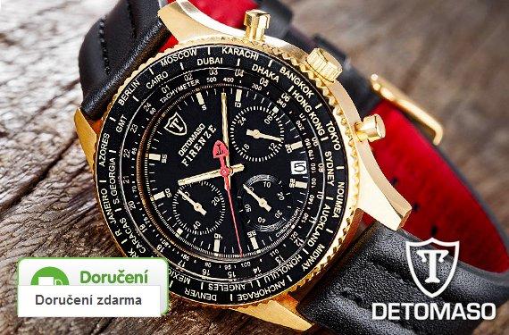 533bbbf6a6e Sleva 72 % na luxusní značkové hodinky Detomaso pro muže
