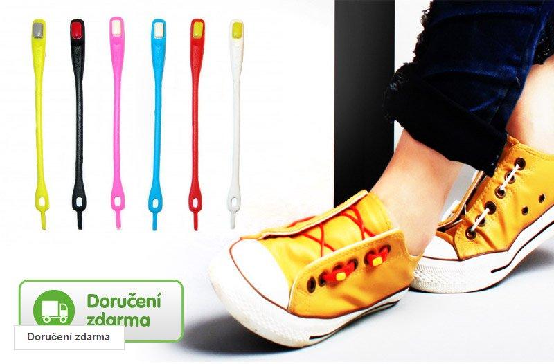 7820e0fefc1 Barevné silikonové tkaničky do bot