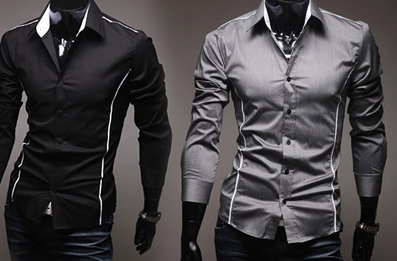 3787b85a928 50% sleva na pánskou elegantní módu – košile Slim Fit za 399 Kč ...