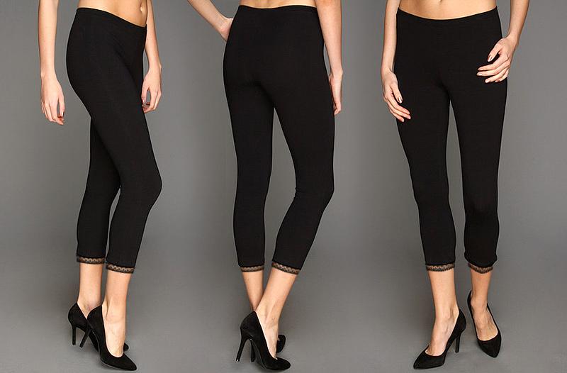 56% sleva na dámskou letní módu – 3 Capri legíny s krajkou za 219 Kč ... 6c42046707