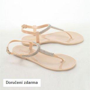 Krémové páskové sandálky