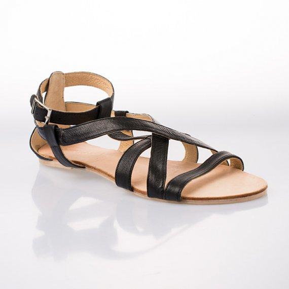 Dámská módní obuv z letní kolekce italské značky GAS 2013! Sandály Red  Queen – černé f14d507d2f