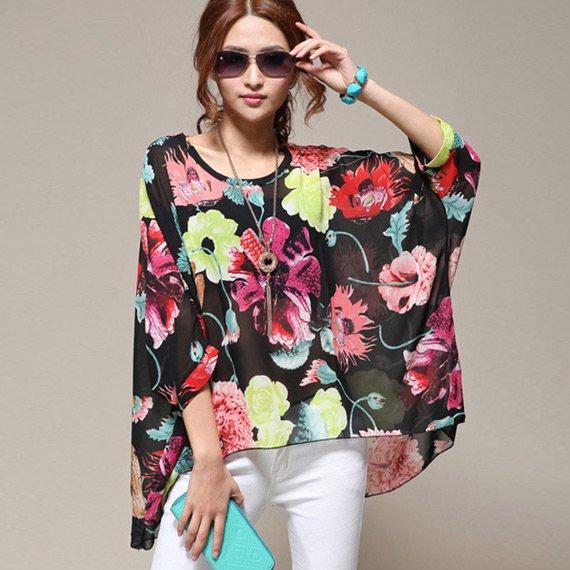 42% sleva na dámskou letní módu – lehká tunika s květy od 349 Kč ... 92f7ada3ca