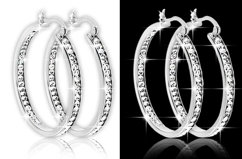 Levné kruhové náušnice pro ženy – šperky se Swarovski Element ... fa46a63041d