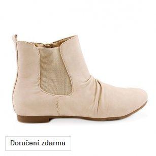0bc82785537 Béžové kotníčkové boty se zipem