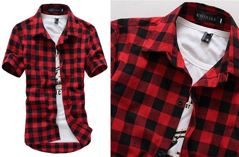 31 % oblečení pro muže  bavlněné kostkované košile za 399 Kč ... f48c12d49b