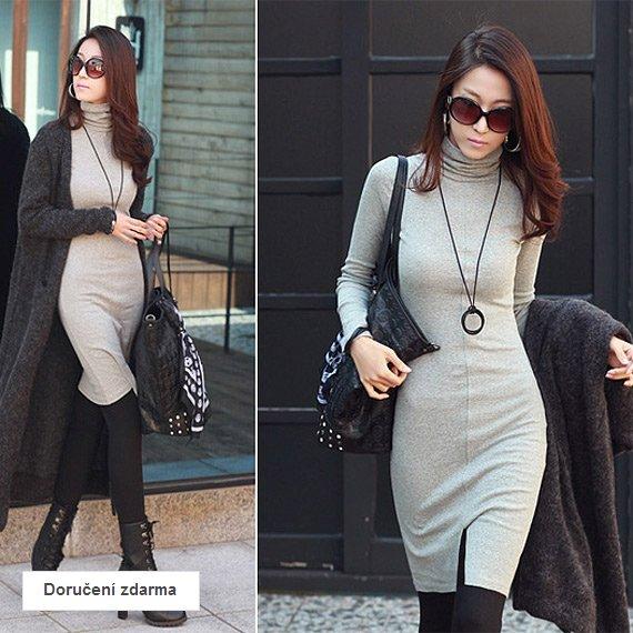 ef737070083 Elegantní dámská móda do chladného počasí – zateplené šaty za 449 Kč ...