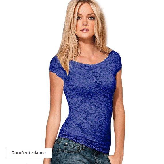 76e47da3a8 40% sleva na dámskou elegantní módu – krajkové tričko za 299 Kč ...