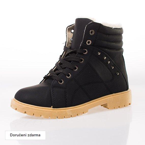 aeba1c10b7 Dámské zimní boty traktorky za akční cenu 399 Kč