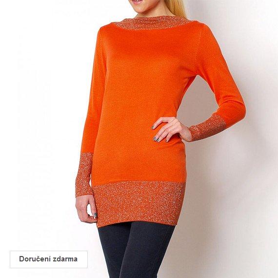 Sleva 31 % na dlouhý svetr pro ženy se zdobením 00cd8747d6