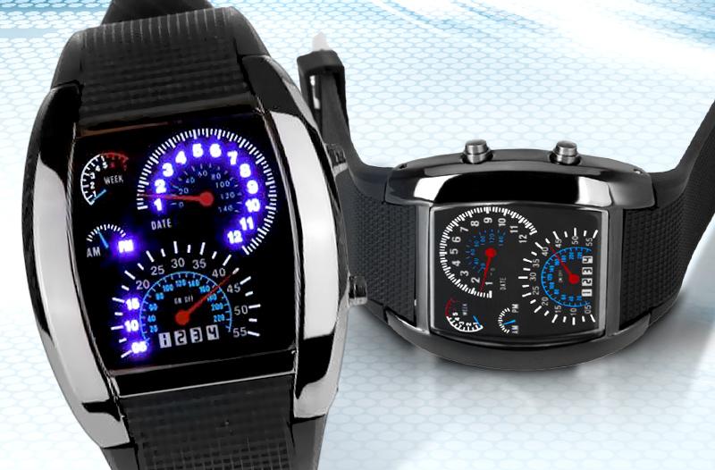 c6ba628df99 Pánské sportovní LED binární hodinky. Moderní ...