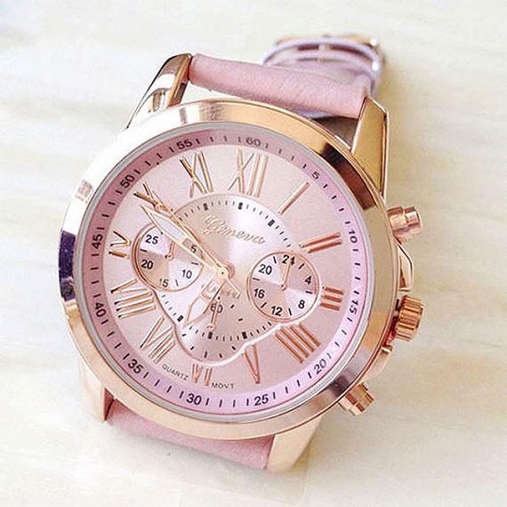 Hodinky s luxusním vzhledem za akční cenu! Sleva na dámské hodinky Geneva 6b09d38150