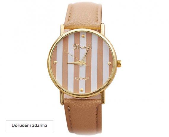 AKCE  dámské hodinky Geneva Stripes za 249 Kč 1a9155a688