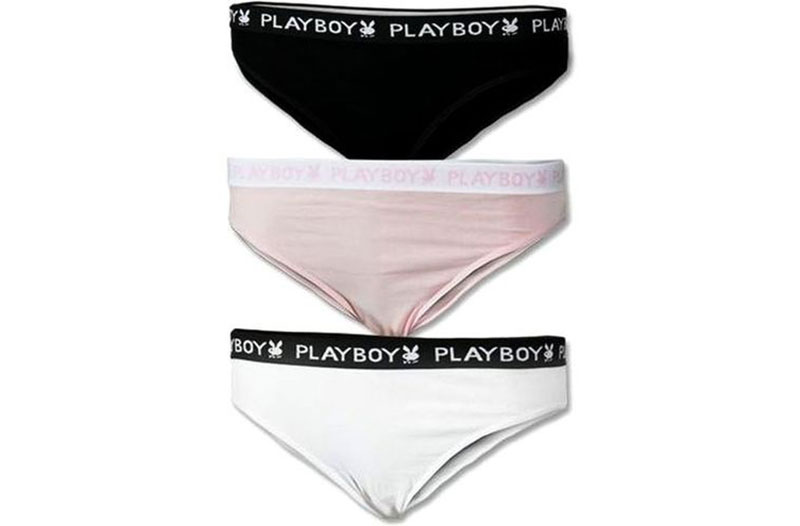 45814c658 Troje dámské pohodlné kalhotky Playboy · Dámské značkové spodní prádlo levně