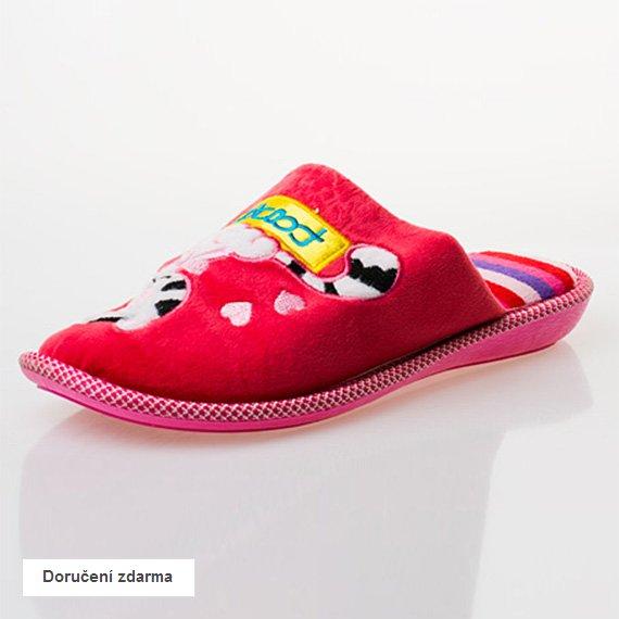 Červené hřejivé pantofle c4174fbd68