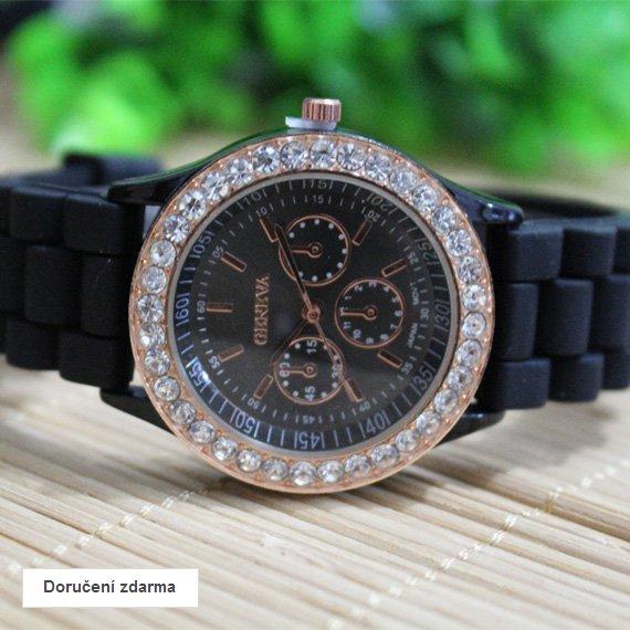 SLEVA 50% silikonové hodinky Geneva s kamínky – doručení zdarma ... ef1bd7a2c5