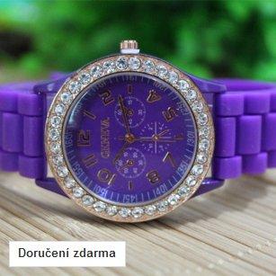 Silikonové hodinky Geneva s kamínky – doručení zdarma  1bafae77ab