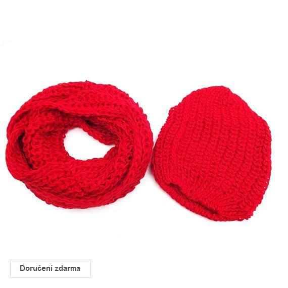 SLEVY na zimní pletené doplňky  set šály a čepice za 199 Kč  5054197935