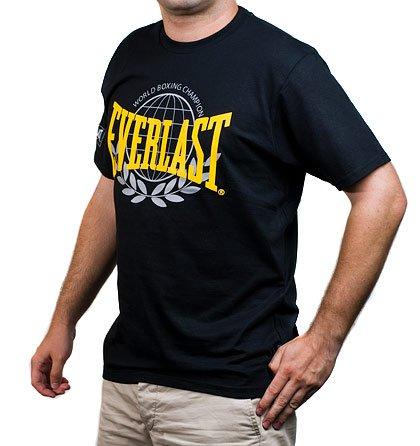 Černé tričko s žlutým nápisem Everlast 96fd00aab1