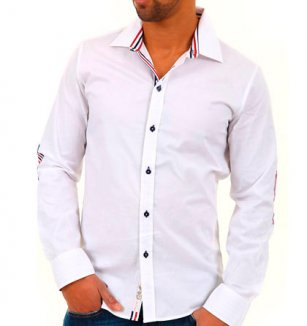 Bílá košile Carisma 0144d11afa