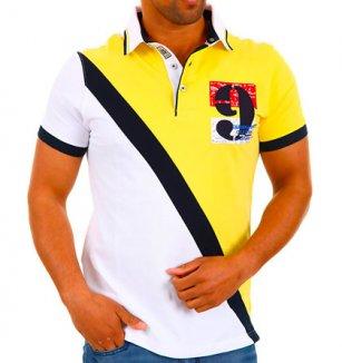 Žluto-bílé polo triko Carisma 9bc7dfc61f