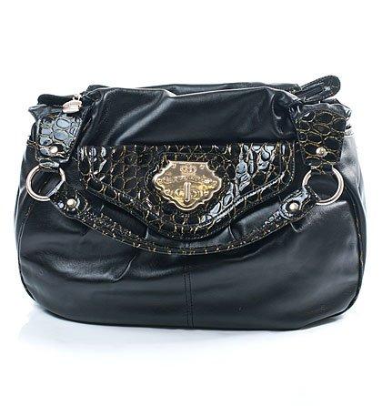 867218866a Černá kabelka s hadím vzorem Kathy van Zeeland