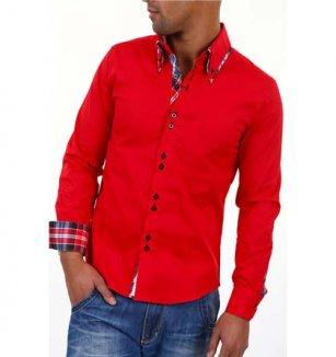 Červená košile Carisma 41fea7169d