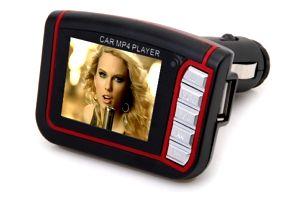 MP4 FM transmitter s 1,8'' TFT displejem na flashku a paměťovou kartu SD